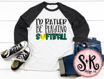 Rather Be Playing Softball SVG DXF PNG (2019)