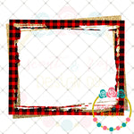 Plaid and Gold Frame Printable Design