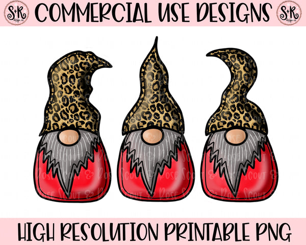 Leopard Hat Gnomes Printable Design (2019)