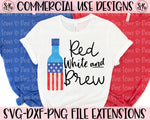 Red White & Brew SVG DXF PNG (2020)
