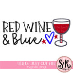 Red Wine & Blue Patriotic SVG DXF PNG (2019)