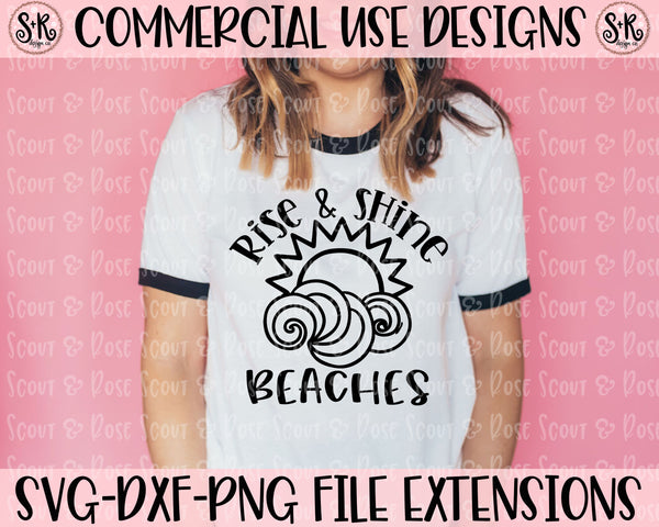 Rise and Shine Beaches SVG DXF PNG (2020)