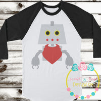 Robot with Bandana SVG DXF PNG
