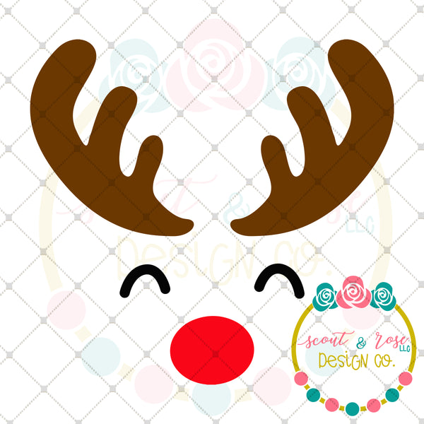 FREE SVG Rudolph SVG DXF PNG