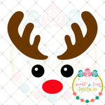 Cute Rudolph SVG DXF PNG