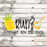 Run Rum SVG DXF PNG