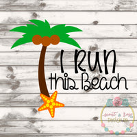Run This Beach SVG DXF PNG