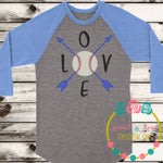 Baseball Love with Arrows SVG DXF PNG