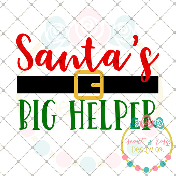Santa S Big Helper Svg Dxf Png Scout And Rose Design Co