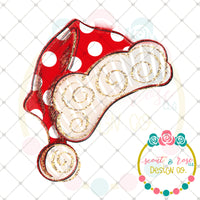 photo relating to Santa Hat Printable called Dotted Santa Hat Printable Structure