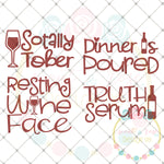 Sassy Wine Glass Set SVG DXF PNG