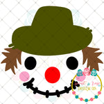 Fall Scarecrow Face SVG DXF PNG