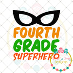 Superhero 4th Grade SVG DXF PNG