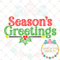 Seasons Greetings SVG DXF PNG