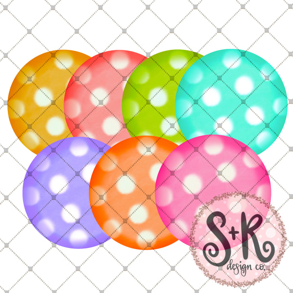 Set of 7 Watercolor Circles Printable Design (2019)