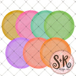 Set of 7 Watercolor Circles Sublimation Design (2019)