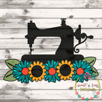 Sewing Machine Floral SVG DXF PNG