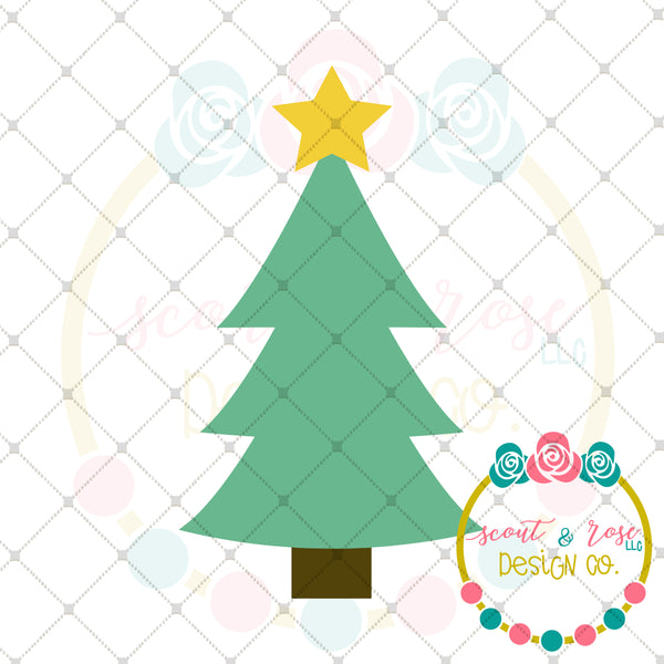 Simple Christmas Tree SVG DXF PNG
