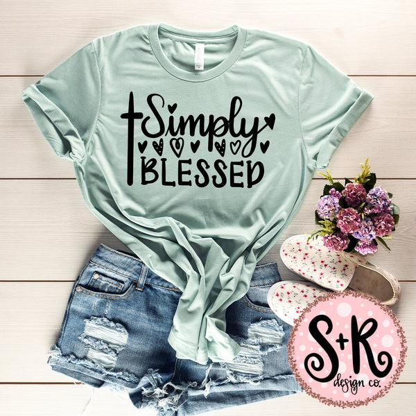 Simply Blessed SVG DXF PNG (2019)