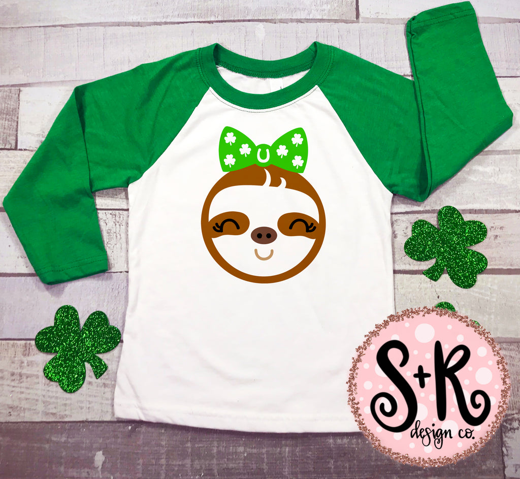 St Patricks Day Sloth SVG DXF PNG (2019)