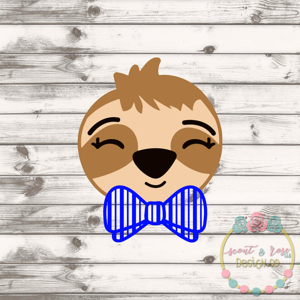 Bowtie Sloth Boy SVG DXF PNG