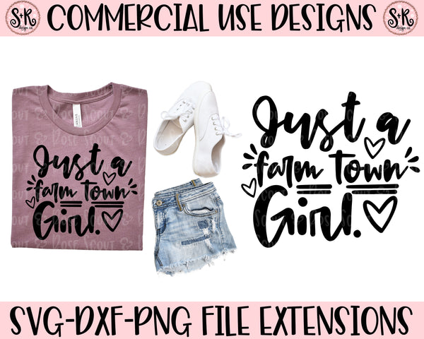 Farm Town Girl SVG DXF PNG (2019)