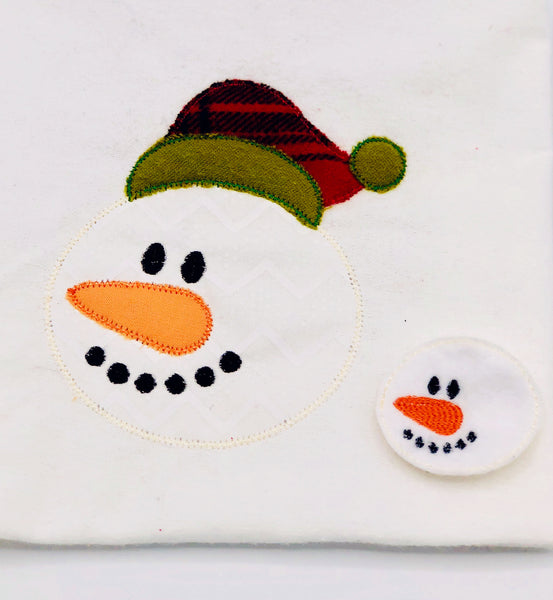 Snowman Raggy Edge Zig Zag Applique & Feltie Set