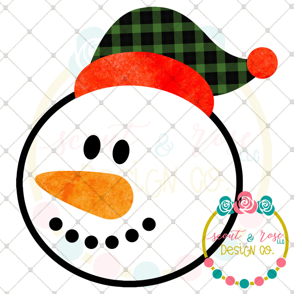 Buffalo Plaid Snowman Printable Design (2018)