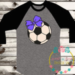 Soccer Ball with Bow SVG DXF PNG
