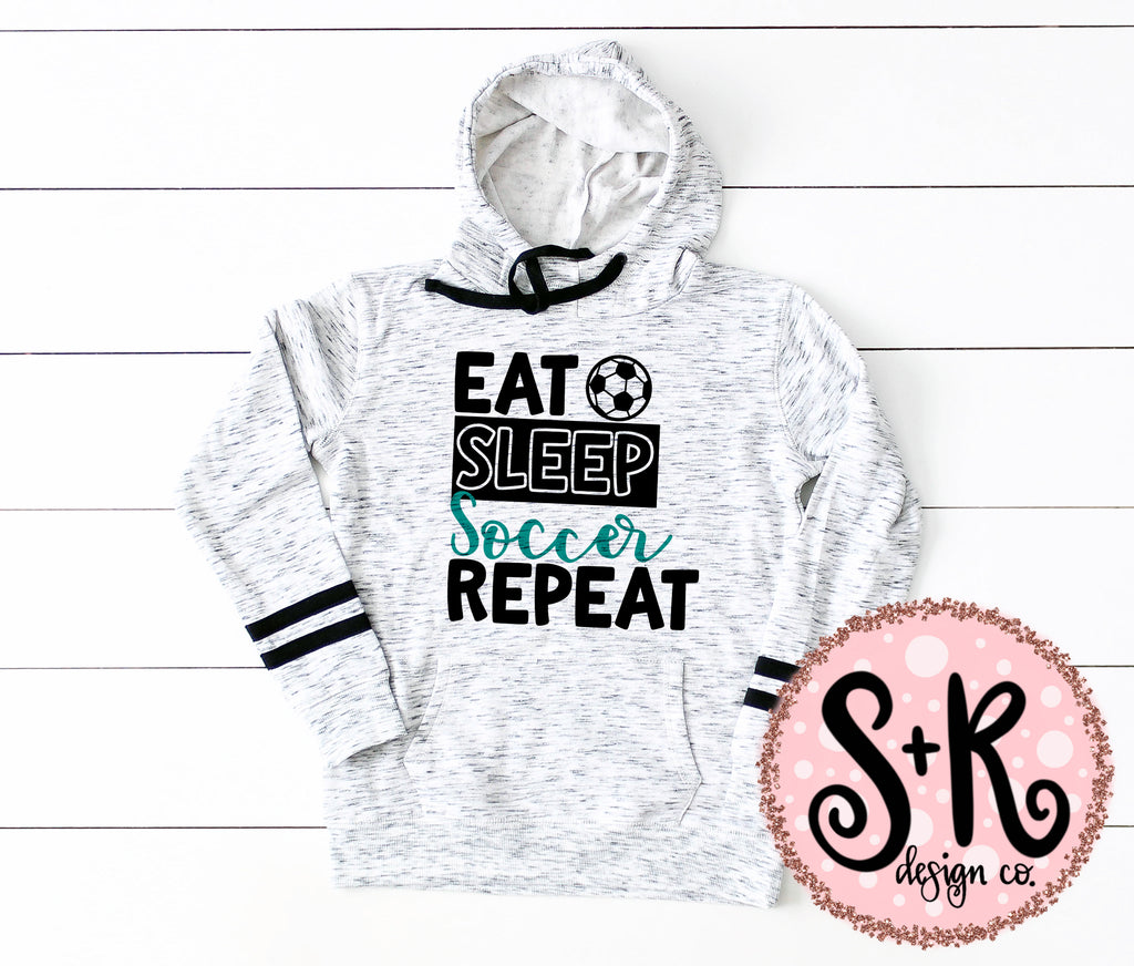 Eat Sleep Soccer Repeat SVG DXF PNG (2019)