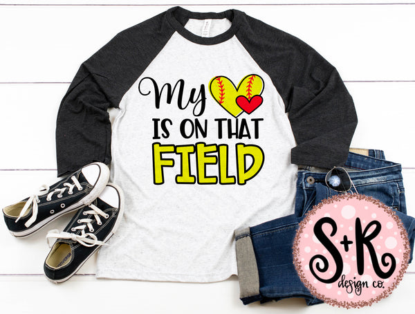 My Heart Is On That Field Softball SVG DXF PNG (2019)