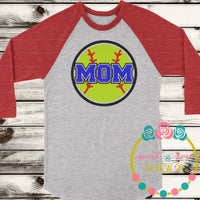 Softball Mom SVG DXF PNG