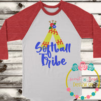 Softball Tribe SVG DXF PNG
