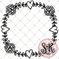 Spring Wreath SVG DXF PNG (2019)