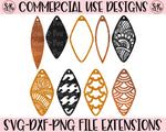 Faux Leather Earring Set 2 SVG DXF PNG (2020)