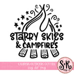 Starry Skies & Campfires SVG DXF PNG (2019)