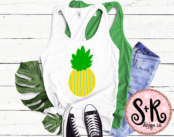 Stripes Pineapple SVG DXF PNG (2019)