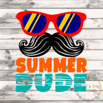 Summer Dude SVG DXF PNG