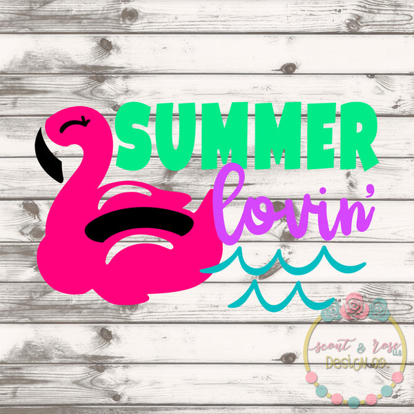 Summer Lovin' Flamingo SVG DXF PNG