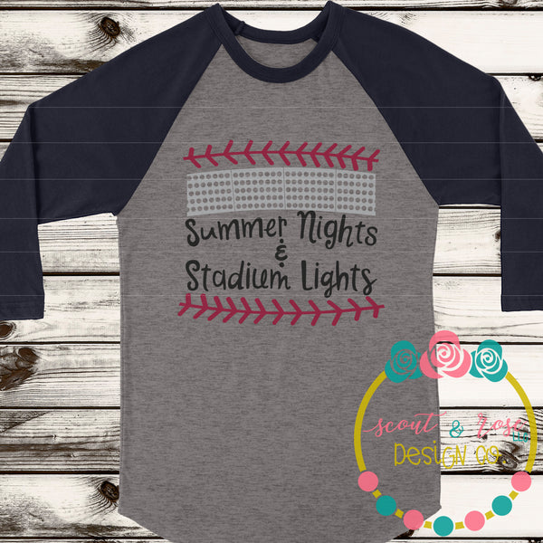 Baseball Stadium Lights SVG DXF PNG