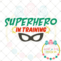 Superhero In Training SVG DXF PNG