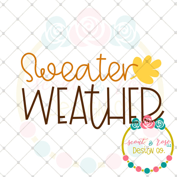 Sweater Weather SVG DXF PNG