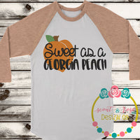 Sweet As A Georgia Peach SVG DXF PNG