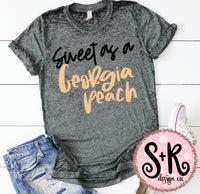 Sweet As A Georgia Peach SVG DXF PNG (2019)