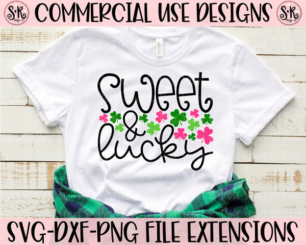 Sweet & Lucky SVG DXF PNG (2020)