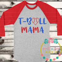 T-ball Mama SVG DXF PNG