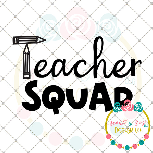 Teacher Squad SVG DXF PNG