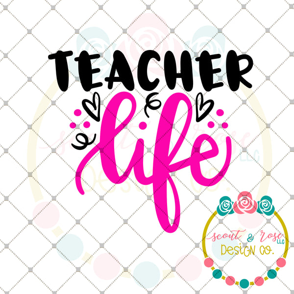 FREE Teacher Life SVG DXF PNG