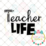 Teacher Life SVG DXF PNG