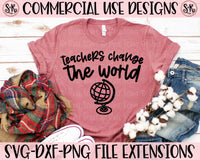 Teachers Change The World SVG DXF PNG (2020)